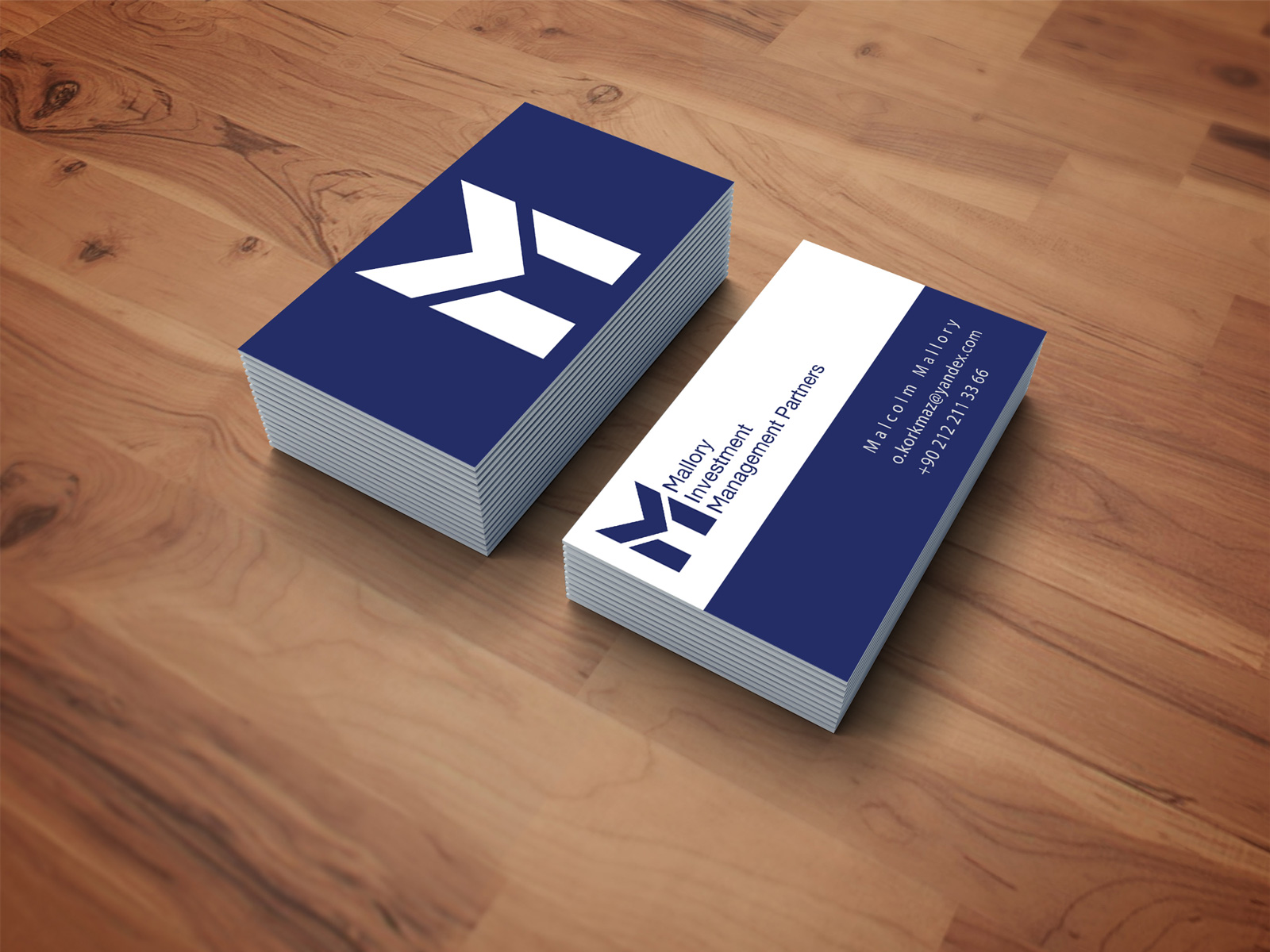 Investment Company Business card Design